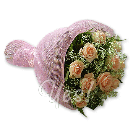 Букет из розовых роз (60 см.)