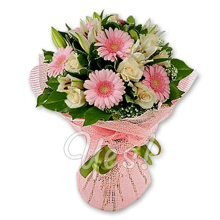 Букет из роз, лилий и гербер в Подгорице