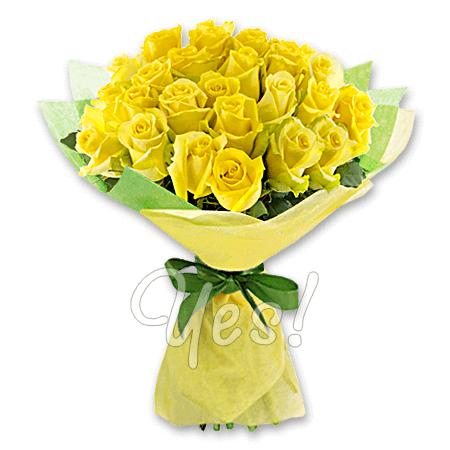 Букет из жёлтых роз (80 см.)