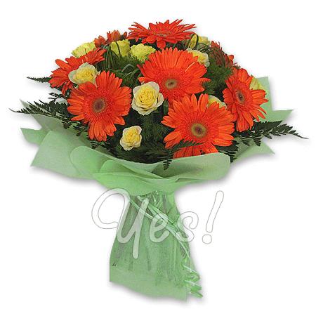 Букет з троянд і гербер у Подгориці