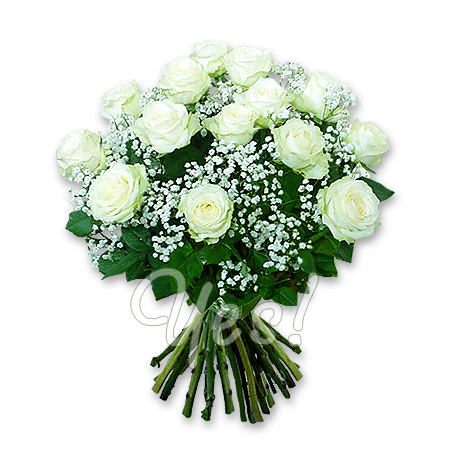 Bouquet of roses (60 cm.) decorated with verdure