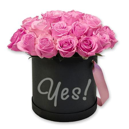 Розы в шляпной коробке в Брюсселе