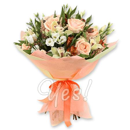 Букет из роз, орхидей, альстромерий в Эдинбурге