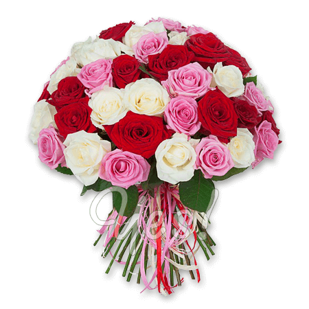 Букет из разноцветных роз (50 см.) в Нью-Дели