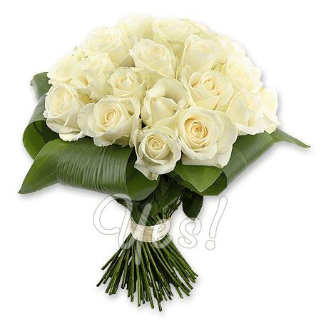 Букет из белых роз (50 см.) в Нью-Дели